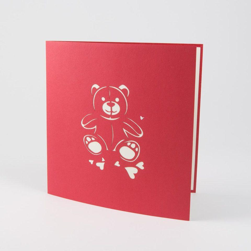 Pop Up Karte Bär mit Herz Produktbild Cover
