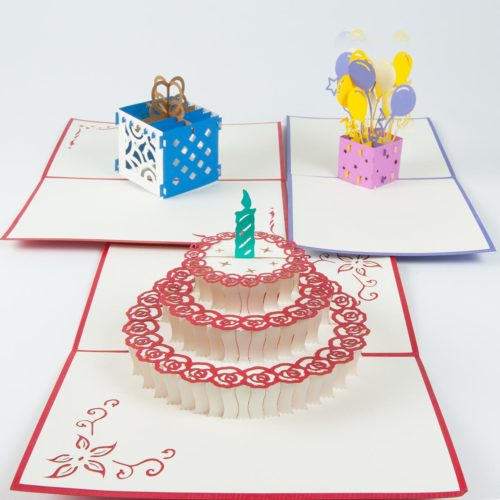 Pop Up Karte Geburtstagskarten Set Produktbild Oben