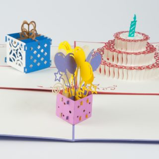 Pop Up Karte Geburtstagskarten Set 01 Produktbild Front